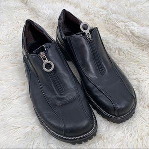Donald J Pliner Sport Ulka Black Leather Zip Shoes